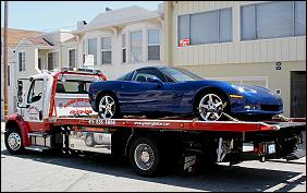 San Francisco flatbed towing